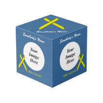 Yellow Standard Ribbon Template Cube