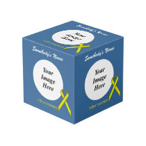 Yellow Standard Ribbon Template Cube