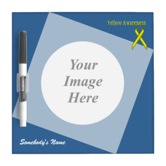 Yellow Standard Ribbon Template Dry-Erase Board