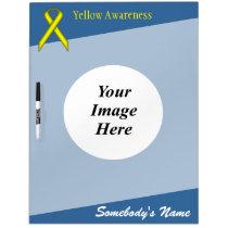 Yellow Standard Ribbon Template Dry-Erase Board