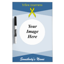Yellow Standard Ribbon Template Dry Erase Board