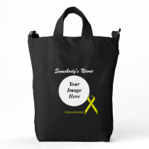 Yellow Standard Ribbon Template Duck Bag