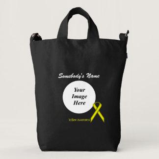 Yellow Standard Ribbon Template Duck Bag