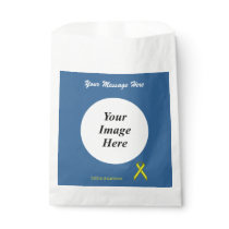 Yellow Standard Ribbon Template Favor Bag