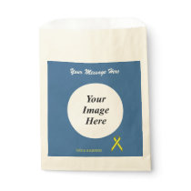 Yellow Standard Ribbon Template Favor Bag