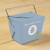 Yellow Standard Ribbon Template Favor Box