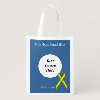 Yellow Standard Ribbon Template Grocery Bag