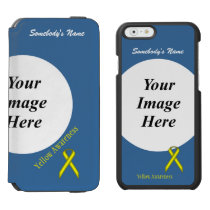 Yellow Standard Ribbon Template iPhone 6/6s Wallet Case