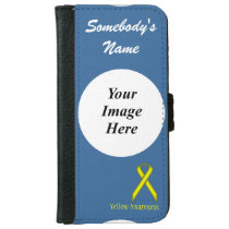 Yellow Standard Ribbon Template Wallet Phone Case For iPhone 6/6s