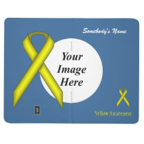 Yellow Standard Ribbon Template Journal