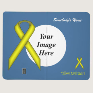 Yellow Standard Ribbon Template Journal