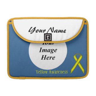 Yellow Standard Ribbon Template MacBook Pro Sleeve
