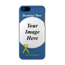 Yellow Standard Ribbon Template Metallic iPhone SE/5/5s Case