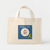 Yellow Standard Ribbon Template Mini Tote Bag
