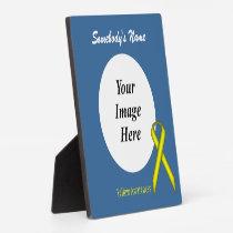 Yellow Standard Ribbon Template Plaque