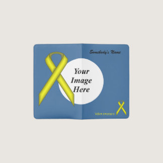 Yellow Standard Ribbon Template Pocket Moleskine Notebook