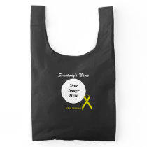 Yellow Standard Ribbon Template Reusable Bag