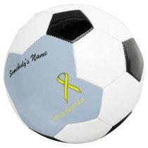 Yellow Standard Ribbon Template Soccer Ball