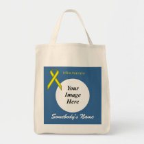 Yellow Standard Ribbon Template Tote Bag