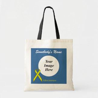 Yellow Standard Ribbon Template Tote Bag