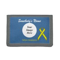 Yellow Standard Ribbon Template Trifold Wallet