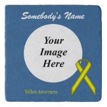 Yellow Standard Ribbon Template Trivet