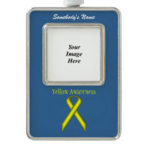 Yellow Standard Ribbon Template (V-O) Christmas Ornament