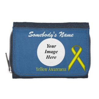 Yellow Standard Ribbon Template Wallets