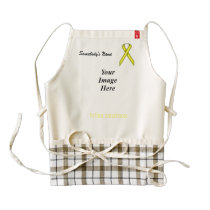 Yellow Standard Ribbon Template Zazzle HEART Apron