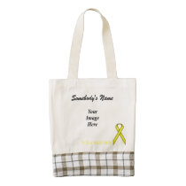 Yellow Standard Ribbon Template Zazzle HEART Tote Bag