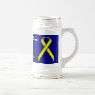 Yellow Standard Ribbon Tmpl by Kenneth Yoncich Beer Stein