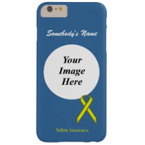 Yellow Standard Ribbon Tmpl by Kenneth Yoncich Barely There iPhone 6 Plus Case