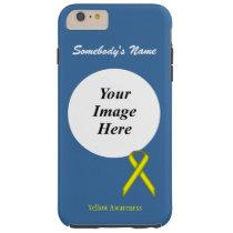 Yellow Standard Ribbon Tmpl by Kenneth Yoncich Tough iPhone 6 Plus Case