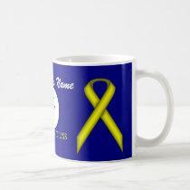 Yellow Standard Ribbon Tmpl by Kenneth Yoncich Coffee Mug