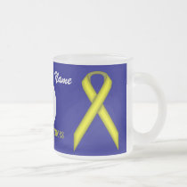 Yellow Standard Ribbon Tmpl by Kenneth Yoncich Frosted Glass Coffee Mug