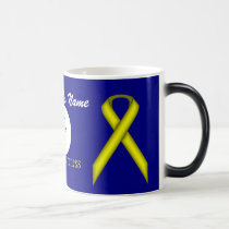 Yellow Standard Ribbon Tmpl by Kenneth Yoncich Magic Mug