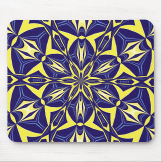 Yellow Star Abstract Mouse Pad
