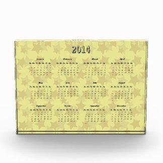 Yellow star acrylic 2014 calendar at a glance award