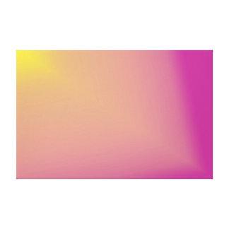 "Yellow ""Star Beam"" on Pink Canvas Print"