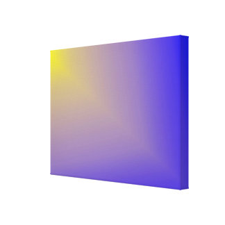 """Yellow """"Star Beam"""" on Purple and Blue Canvas Print"""
