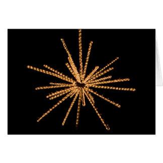 Yellow Star Bright Light Sculpture - 5x7 Card