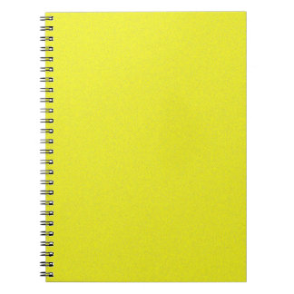 Yellow Star Dust Spiral Note Books