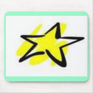 yellow star mouse pad