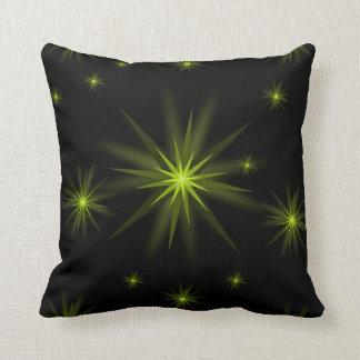 yellow star throw decorative pillow