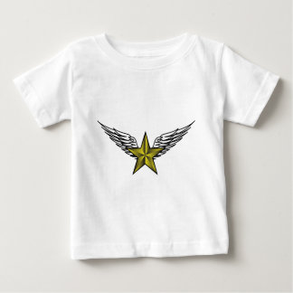 yellow star with wings baby T-Shirt