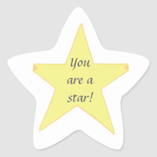 Yellow Star, You are a star - Star Stickers