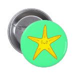 Yellow Starfish Button