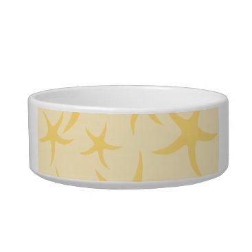Beach Themed Yellow Starfish Pattern. Bowl
