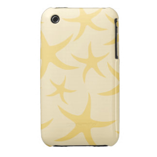 Yellow Starfish Pattern. iPhone 3 Case-Mate Cases