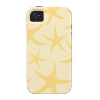 Yellow Starfish Pattern. iPhone 4 Covers